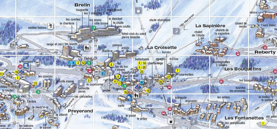Ski rental Les Menuires SKI TOP La Croisette